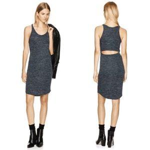 Aritzia black jersey cut-out midi dress